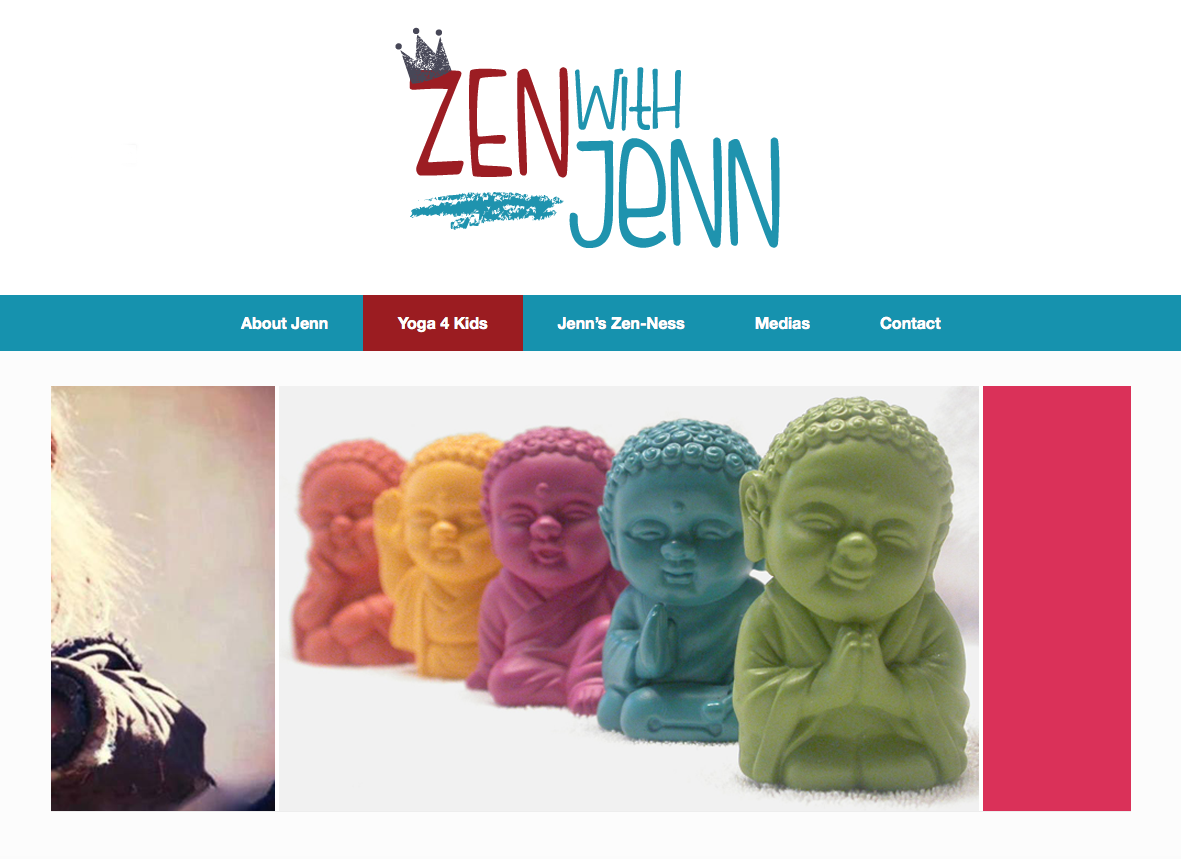 Zen With Jenn Original Website Design by Clement Lemay-Chaput (Montreal)
